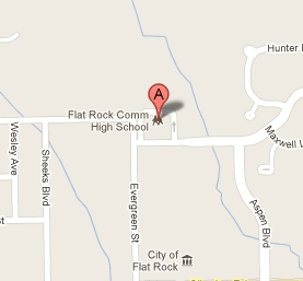 Flat Rock High School Location Map